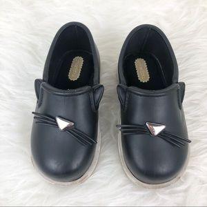 MINI MELISSA Cat Face Slip On It Sneaker Toddler 8
